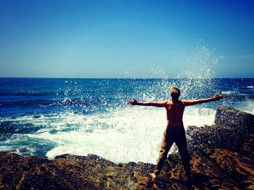 sea, nature, man